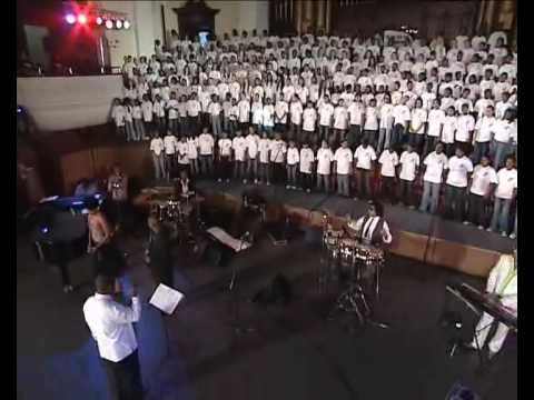 """Pretty Yende and Given Nkosi perform """"Nessun Dorma"""" with the Young Voices South Africa Choir"""