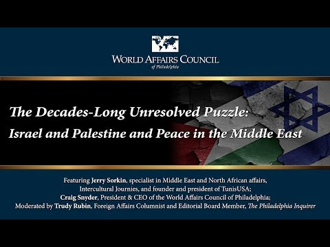 The Decades-Long Unresolved Puzzle: Israel and Palestine and Peace in the Middle East