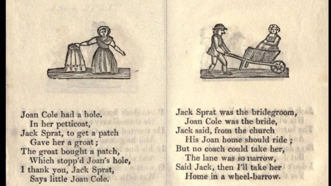 the original 1873 jack sprat nursery rhyme