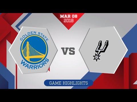 San Antonio Spurs vs. Golden State Warriors - March 8, 2018