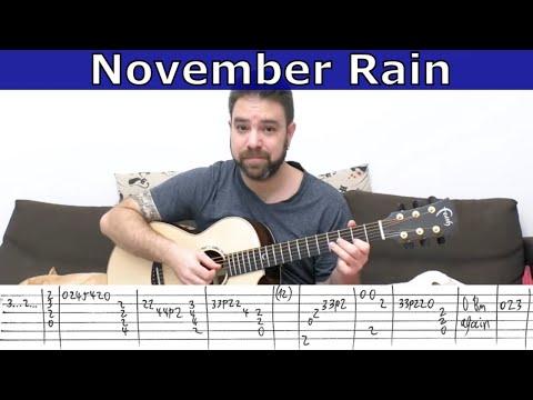 Fingerstyle Tutorial: November Rain [FULL Instrumental] - Guitar Lesson w/ TAB