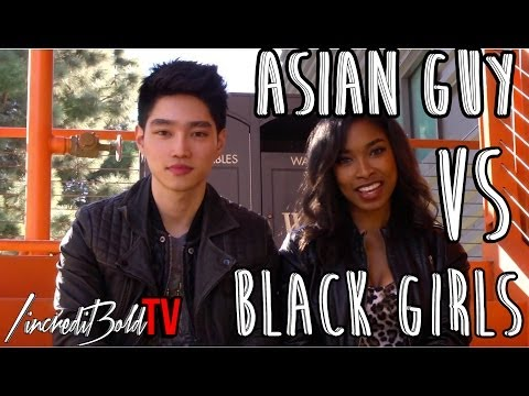 Black girl with asian guy