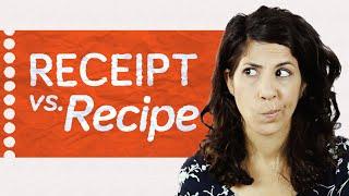 Recipe vs. Receipt?  how to pronounce  American English