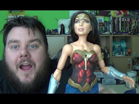 DC Comics Wonder Woman Battle Ready 12 Inch Doll Mattel Toy Review