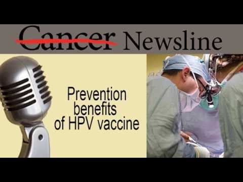 Cancer Prevention Benefits of HPV Vaccine