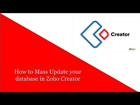 How to Mass Update your database in Zoho Creator