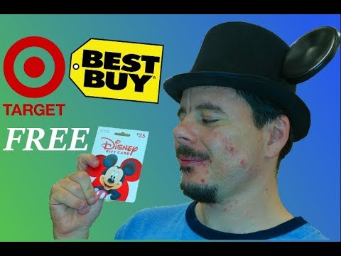 How to Get FREE Disney Gift Cards at Stores like TARGET & Best Buy // TopHatAndEars