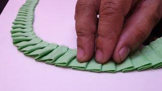 बनाये बुहत खूबसूरत Freel के साथ नैक का डिज़ाइन / Neck Design Cutting and Stitching