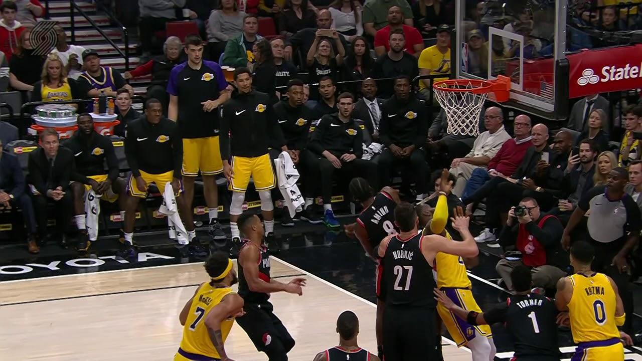 Los Angeles Lakers vs Portland Trail Blazers : November 3 ...