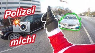 Polizei fotografiert mich im Weihnachtsmann Kostüm + GEWINNSPIEL - MotoVlog