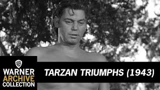 Tarzan Triumphs (1943) – Tarzan Feeds Nazi To Lion