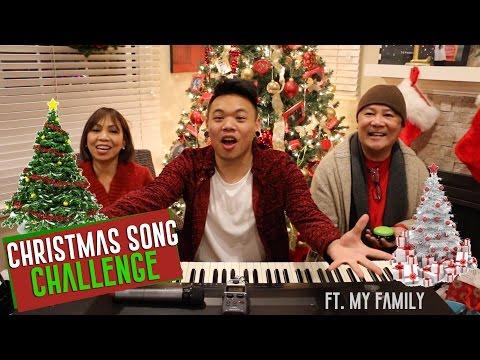 Christmas Song Challenge ft. My Family!!! | AJ Rafael
