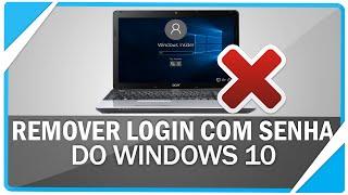 Como remover senha de login na inicialização do Windows 10