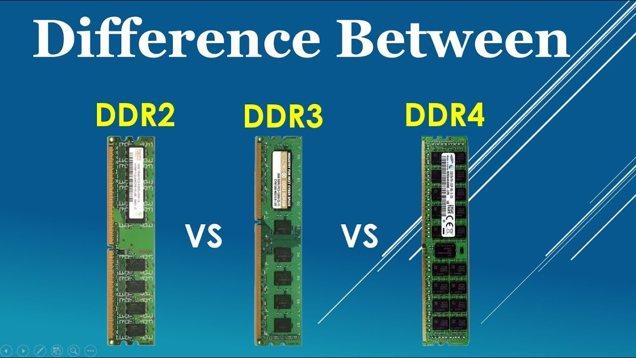 Ddr2 Vs Ddr3 Vs Ddr4 Explained Feature And Identify Comparison Youtube