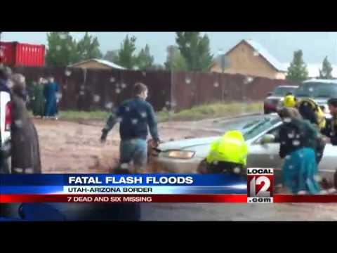 Deadly flash floods rip through Utah town - YouTube