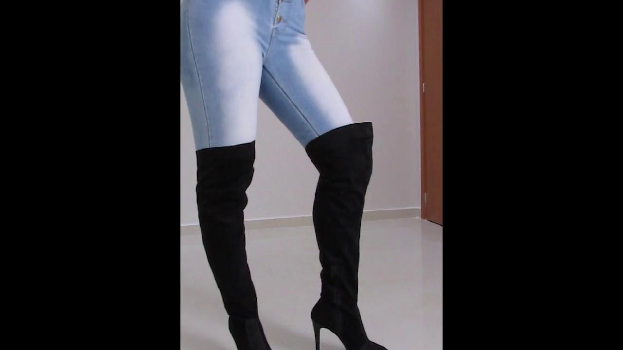 804ed1dfeac72 Como usar: bota Over The Knee (acima do joelho)! - YouTube