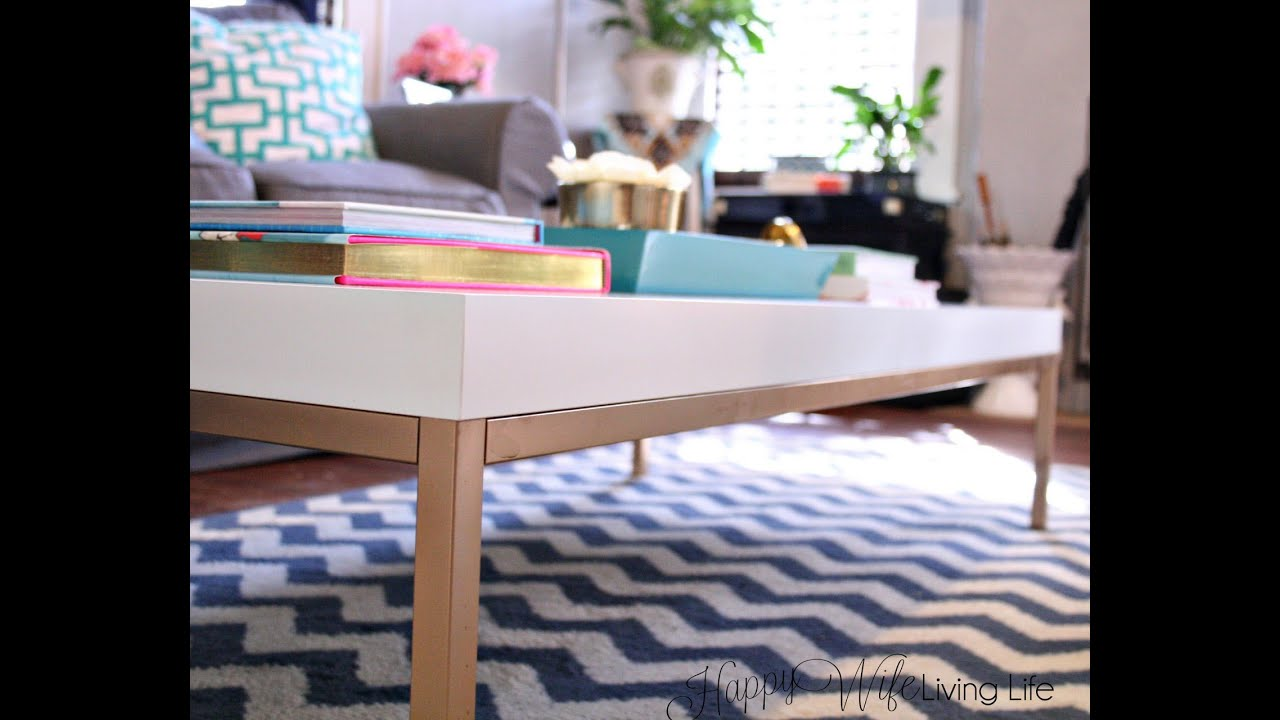 DIY IKEA Hack Coffee Table Greek Key Living Room Project