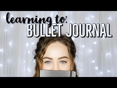 Learning to: BULLET JOURNAL || First Time Trying to BUJO