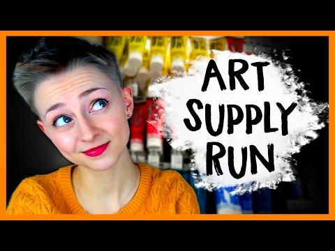 ART SUPPLY RUN! 👱🏻🎨