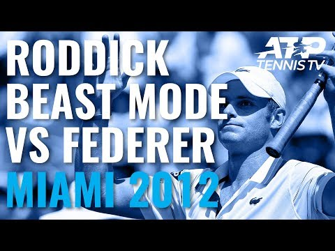 Andy Roddick Engages BEAST MODE Vs Federer | Miami Open 2012
