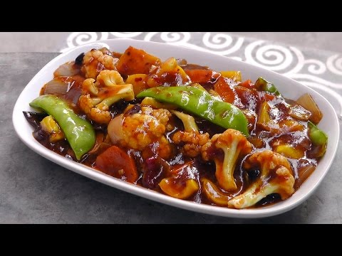 Chinese Vegetables in Szechuan Sauce – Vegan Vegetarian Recipe