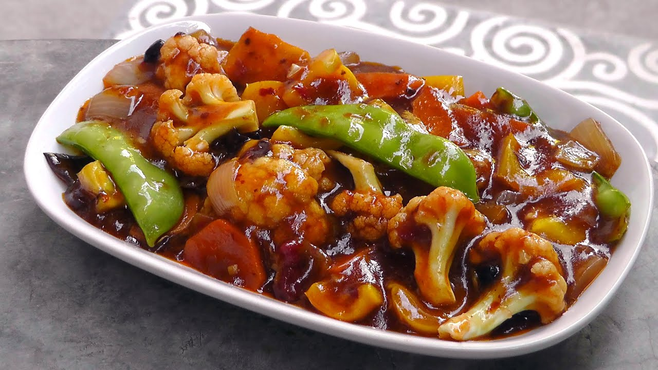 Chinese Vegetables in Szechuan Sauce - Vegan Vegetarian Recipe - YouTube