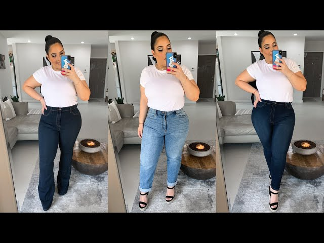 Trying on the BEST Fashion Nova Curve Jeans! *try on haul*   Nelly Toledo