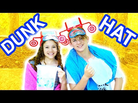 Thumbnail: Dunk Hat! Don't Get Wet! (MattyBRaps vs Sierra Haschak)