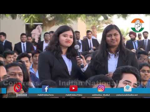 Rahul Gandhi interacts with students from Institute of Management Technology, Dubai University