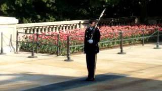 "Guard of  ""The Tomb of the Unknowns"" in a hurry?, going to the sentry box!!!"
