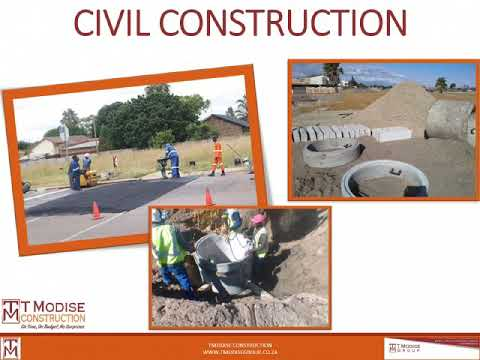 Construction in South Africa (SA). T Modise Construction