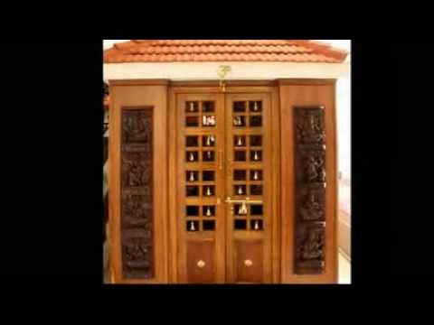 Latest pooja room door frame and door design youtube for Room door frame