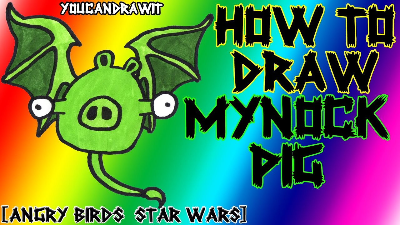 How To Draw Mynock Pig From Angry Birds Star Wars