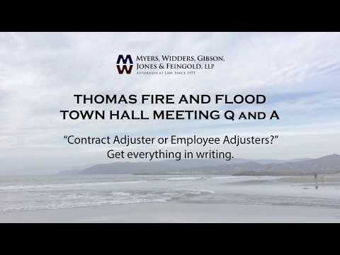 Thomas Fire - Insurance Adjusters - Get it in writing