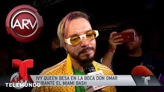 Ivy Queen besó en la boca a Don Omar en el