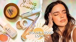 SUPER GLOWY GOLDEN HOUR LOOK ☀️ | Julia Adams