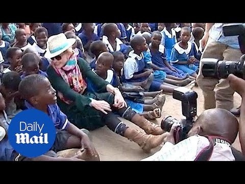 Madonna visits Mkoko, the school she built in Malawi - Daily Mail