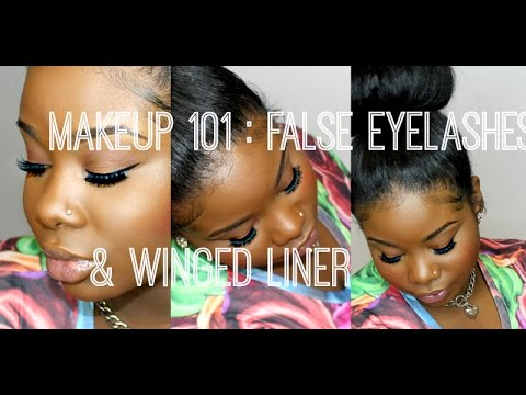 ♥ Makeup 101: False eyelash application & winged eyeliner - 동영상