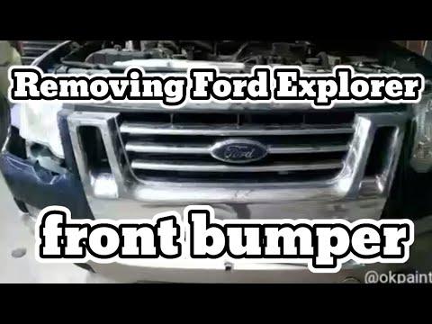 Removing Ford Explorer Front Bumper