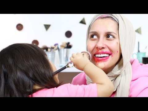 My 2 Year Old does my Makeup