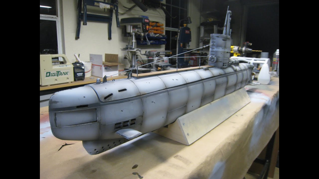 Type XXIII R/C submarine - YouTube