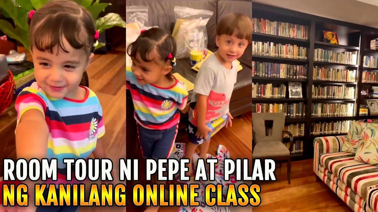 ROOM TOUR ni Pepe at Pilar by Mommy Korina Sanchez ONLINE CLASS Super Laki!!