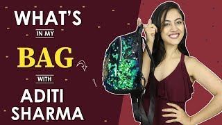 What's In My Bag: Aditi Sharma | Bag Secrets Revealed | India Forums