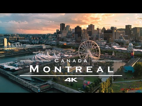Montreal, Canada 🇨🇦 - by drone [4K]