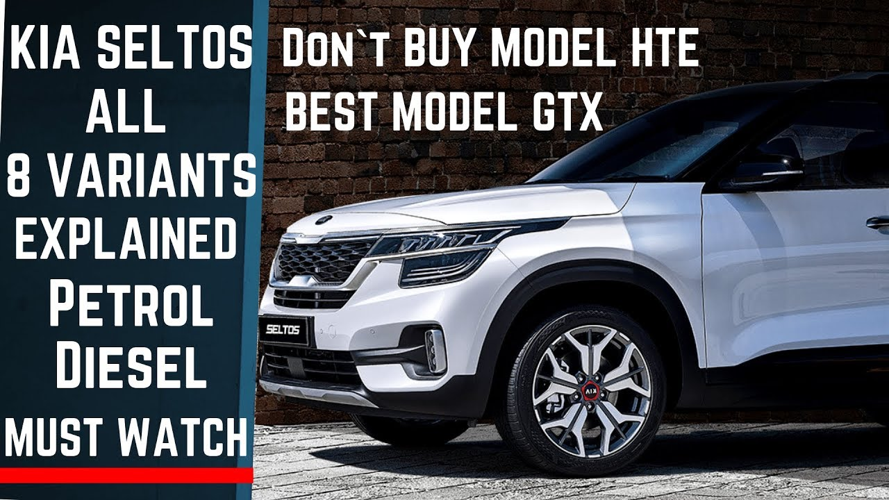 Best Suv For The Money >> Kia SELTOS SUV ALL 8 VARIANTS Explained - BEST VALUE For ...