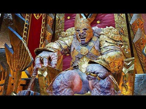 SHADOW OF WAR - HIGH Level 524 GOLDEN Overlord Fiery Marauder Citadel Boss Batle