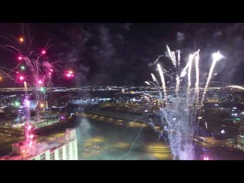 Fireworks at Plaza Hotel-Casino Las Vegas