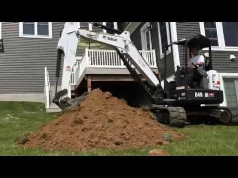 DIY Backyard Construction Project with Bobcat E45 Mini Excavator