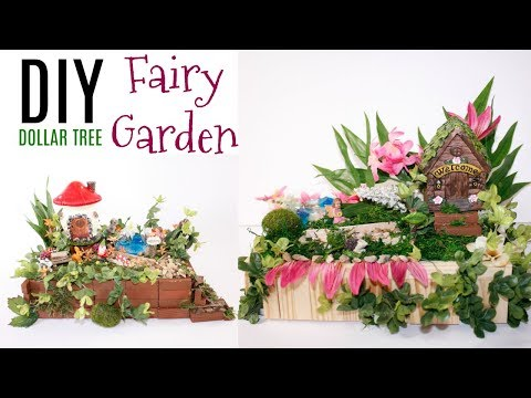 🌸DIY DOLLAR TREE FAIRY GARDEN CRAFTS🌸
