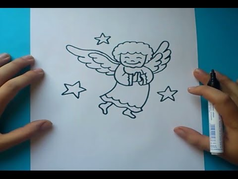 Como dibujar un angel paso a paso  How to draw an angel  YouTube